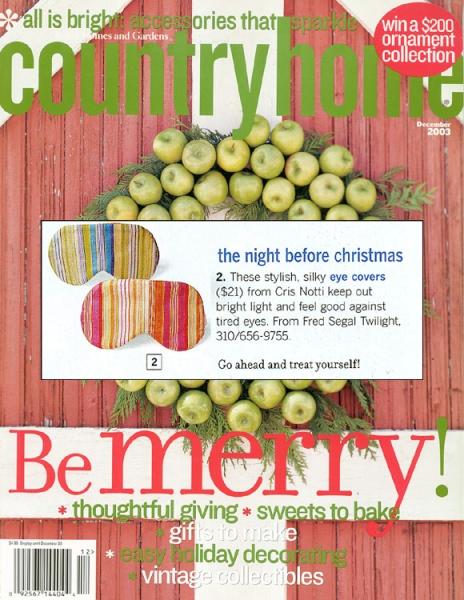 Country Home Magazine Dec'03