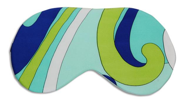 Blue Capri Sleep Mask - front
