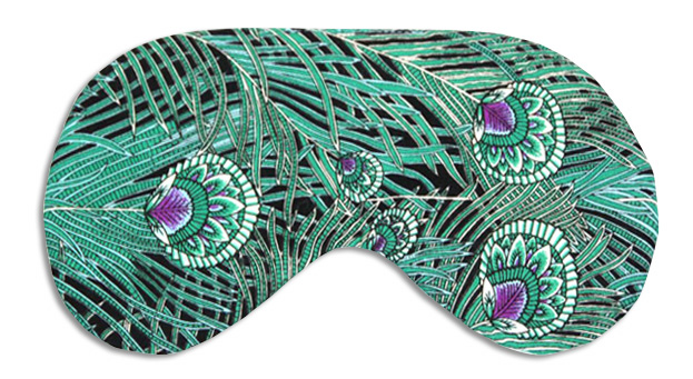 Emerald Peacock Sleep Mask - front