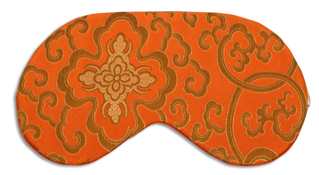 Morocco Tangerine Silk Sleep Mask