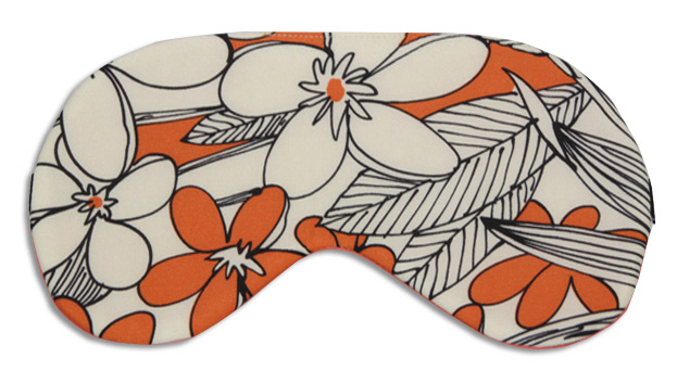 Orange Jungle Silk Sleep Mask