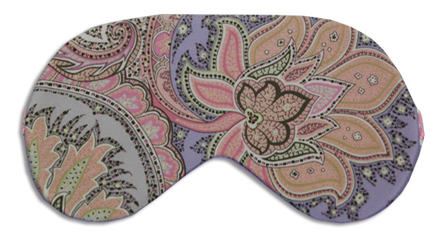 Soft Paisley Rider Sleep Mask - front