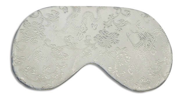 White Dragon Sleep Mask - front