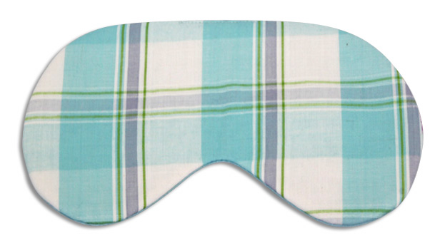 Blueberry Plaid Sleep Mask - front