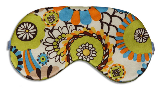 Retro Green Sleep Mask - front