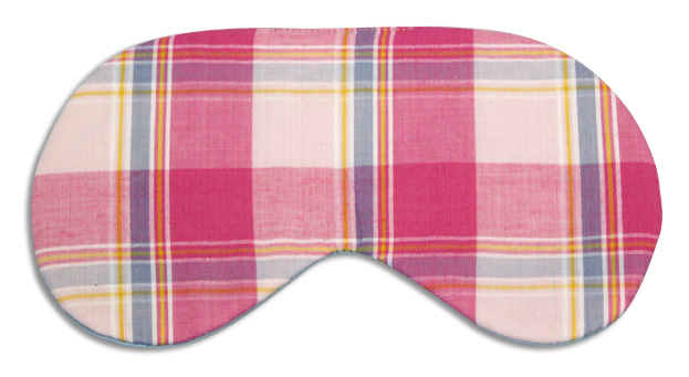 Sherbet Plaid Sleep Mask - front