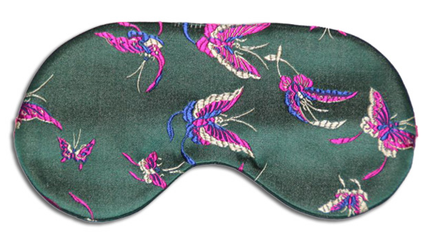 Emerald Butterfly Sleep Mask - front