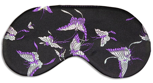 Purple Butterfly Sleep Maskfront