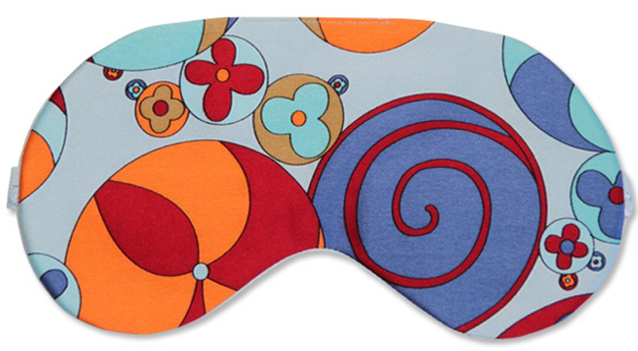 Pinwheel Blue Sleep Mask - front