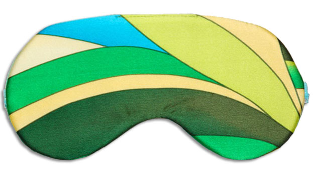 Palm Beach Green Sleep Mask front