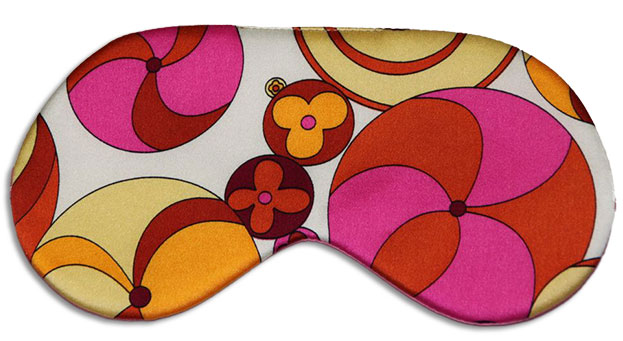 Pinwheel Gold Sleep Mask front