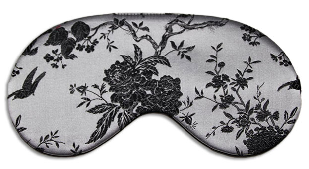 Silver Cameo  Sleep Mask front
