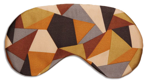 Brown Diamonds Sleep Mask front