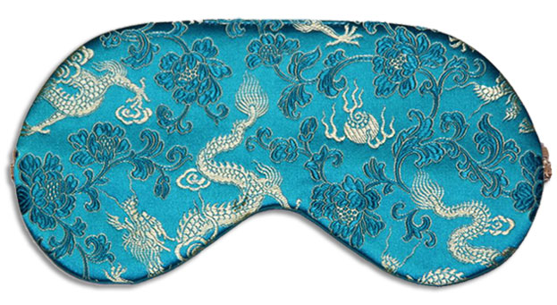 Turquoise Dragon Sleep Mask front