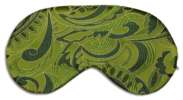Green Leaf Silk Sleep Mask by Bona Notti