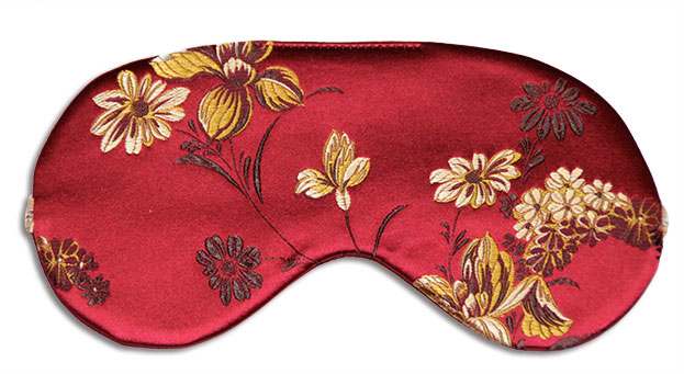 Ruby Peony Silk Sleep Mask