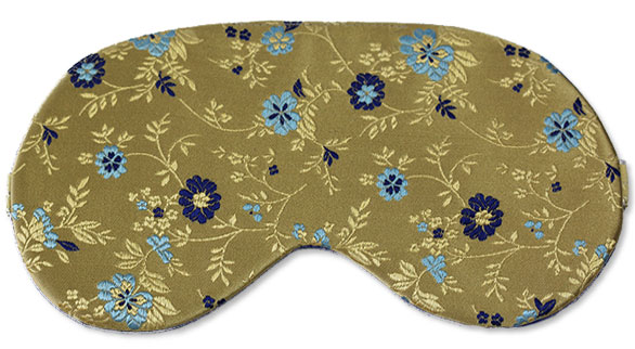 Royal Fleur Silk Sleep Mask - front